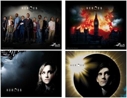 Unas fotos de la serie heroes, una de las más populares ultimamente