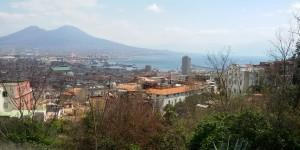 Vista aérea de Nápoles desde el Vomero