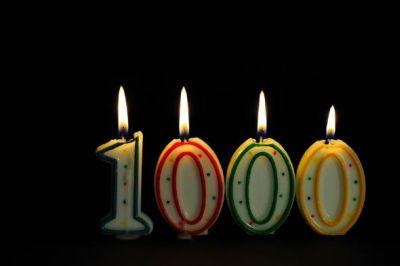 1000 reseñas