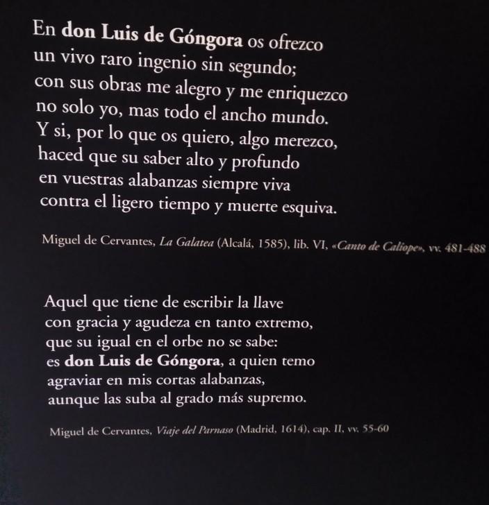 Cervantes sobre Góngora