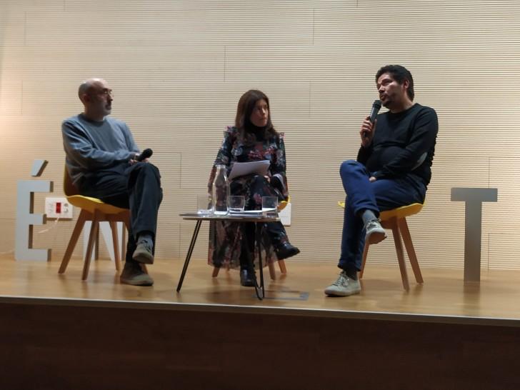 Eduardo Halfon, Cristina Hermoso de Mendoza y Juan Pablo Villanueva