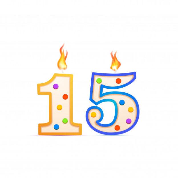 quince-anos-aniversario-15-velas-cumpleanos-forma-numero-fuego-blanco_88653-1301